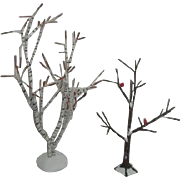 Dept 56 Christmas Village Accessories 2 Winter Bare Trees