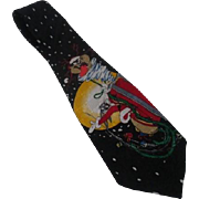 Bugs Bunny & Tasmanian Devil Silk Tie Christmas