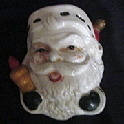 Vintage Wall Pocket- Santa with Rolling Pin