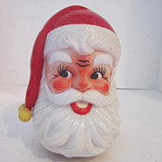 Vintage Musical Plastic Santa