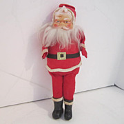 Vintage Santa Doll with Hand Painted Face