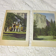 Vintage Luncheon and Dinner Menus for the Ahwahnee Hotel Yosemite August 3, 1943