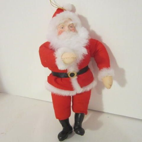 Plush Santa Tree Ornament