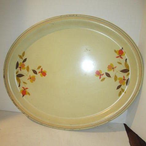 Vintage Jewel Tea Autumn Leaf Metal Tray by Hall China