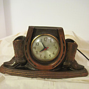 Vintage Carnival Prize Clock with Boots and Extra Boot.