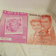 Two songs with Doris Day Que Sera, Sera and A Guy is a Guy