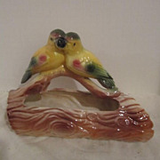 Vintage Pair of Lovebirds Planter