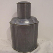 Vintage Pewter Flask Made For Gumps Of San Francisco .