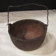 Antique Small Iron Cooking Pot Marked Pasco #6