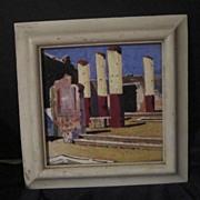 Vintage Tile Signed Pompeii, Napoli Dated 25 Sept 1929