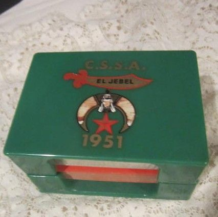Vintage C.S.S.A. El Jebel 2 Deck Playing Cards and Holder
