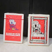 Vintage Two Decks Playing Cards from Harold's Club