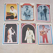 Vintage 6 Elvis Presley Collector Cards from 1978