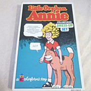 Vintage Little Orphan Annie Colorforms Dress Up Set