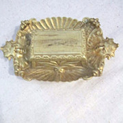 Vintage Victorian Gilt Match Safe with Striker