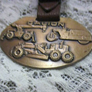 Vintage Watch Fob with Galion 3 Pieces of Heavy Equipment