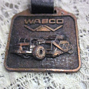Vintage Watch Fob WABCO with Heavy Equipment