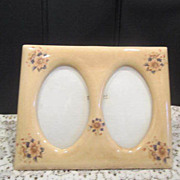 Charming Ceramic Double Oval Standing Picture Frame
