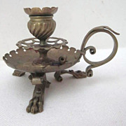 Brass 3 Footed Candle Holder
