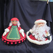 Hand Crafted Mr & Mrs. Santa Claus from 1970's