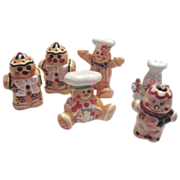3 Sets of Gingerbread Men S&P Shakers