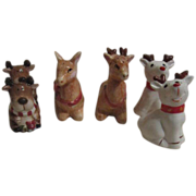 3 Sets Christmas Reindeer S&P Shakers
