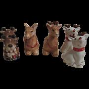 3 Sets Christmas Reindeer S&P Shakers