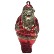 Early Plastic Santa Ornament