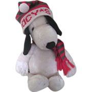 Plush Snoopy with Macy's Ski Cap 1968