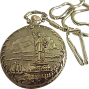 Statue of Liberty Commemorative Pocket Watch