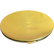 American Beauty by Elgin American Goldtone Compact