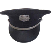 Gelhaar Dress Uniform Fire Department Hat with Brass Band