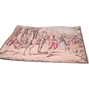 Large Belgium Tapestry of Bullfighter Outside Arena