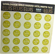 2 Record Set of Elvis Presley Worldwide Gold Award Hits