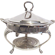Oneida Silver Plated Covered Buffet Server with Warmer Tray