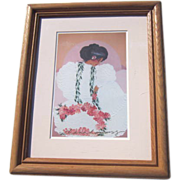 Framed Diana Hansen-Young Print of Hawaiian Woman