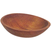 Antique Primitive Hand Hewn Wood Dough Mixing Bowl