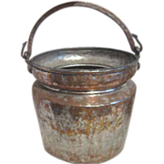 Large Hammered Copper on Tin Bucket from Turkey
