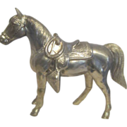 "11"" High Brass Horse"