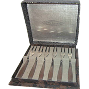 Set of 6 Demitasse Forks by Gero Zilvium of Holland
