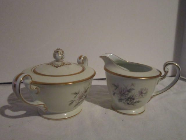 Vintage Noritake Ceramic Cream and Sugar Set