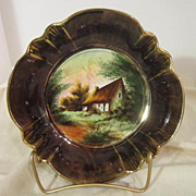 Vintage Hand Painted Ceramic Bowl from Belgium Signed H. Bequet
