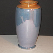 Vintage Traditional Blue and Gold Japanese Luster Vase
