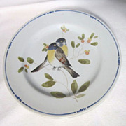 """Vintage Fitz and Floyd """"Oiseau"""" Pattern Bread and Butter Plates (Set of 4)"""
