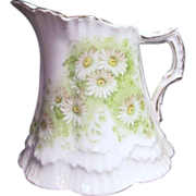 Bavarian China from Germany Milk/Creamer Pitcher with Daisies