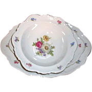 Set of Two Bohemian china from Czechoslovakia