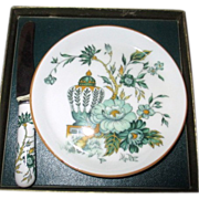 Staffordshire Butter Plate and Knife Kowloon Design