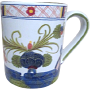 Hand Painted Ceramic Coffee Mug Made in Italy for Gump's