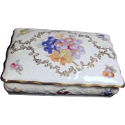 Schumann Bavaria (Germany) Lidded Box with Grapes and Gold Trim
