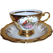 Gloria Fine Porcelain from Bavaria Bayreuth Cup and Saucer